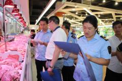 兰考县食品药品监督管理局联合工商局开展流通环节肉品专项检查
