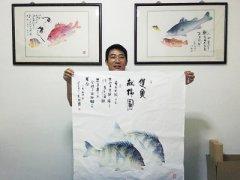 """让鱼儿""""活""""在纸上――中国鱼拓名家谷冰侧记"""