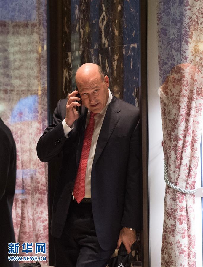 美国当选总统特朗普12月12日宣布,高盛集团总裁兼首席运营官加里・科恩将任白宫国家经济委员会主任。这是11月29日,加里・科恩抵达美国纽约特朗普大厦与当选总统特朗普会面的资料照片。 新华社/法新