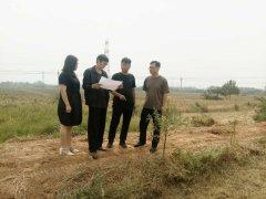 渤海路办事处到项目建设现场服务