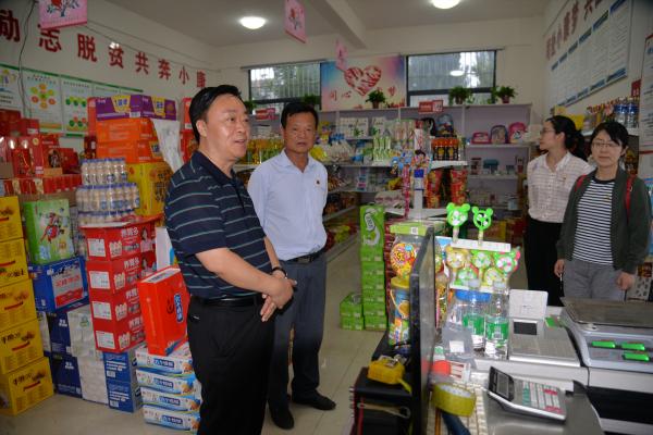 县委常委、副县长杨建文深入到乡镇调研指导脱贫攻坚工作