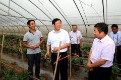 市委副书记王富兴带队到我县观摩产业扶贫暨改善农村人居环境工作
