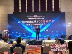 2018河南品牌500强发布会暨定位中原启动仪式在郑州举行