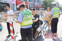 郑州交警联合多部门治理火车站地区交通违法 一上午拖移机动车8辆