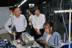 河南省服装行业协会会长李刚到我县调研服装行业发展情况