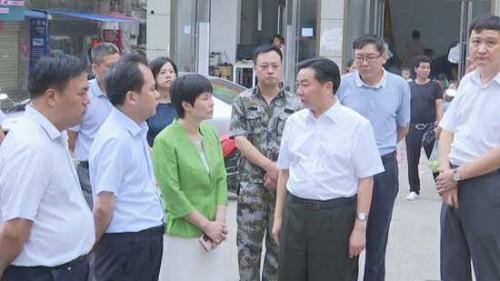 曹新博到平桥区检查国家卫生城市建设工作