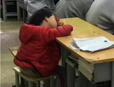 这张照片让人心疼!4岁女孩趴课桌酣睡刷爆朋友圈