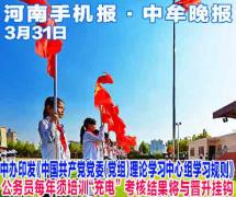 河南中牟3月31日手机报