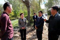县长张颖波现场督导省委省政府第四督察组交办的马村干渠污染整改工作