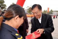 我县庆祝第二十一届环卫工人节暨表彰大会