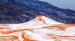 撒哈拉沙漠37年来首次降雪 积雪一天左右就融化