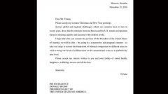 特朗普高调展示普京来的信:普京说的对(图)