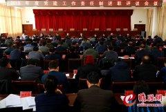 县委举行2018年度党建工作责任制述职评议会议