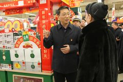市长刘尚进实地察看全市春节市场物资供应和安全生产工作