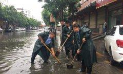 县住建委冒雨开展城区排查力保道路安全