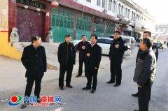 王光华、程惠建现场调研老城区雨污水管网项目
