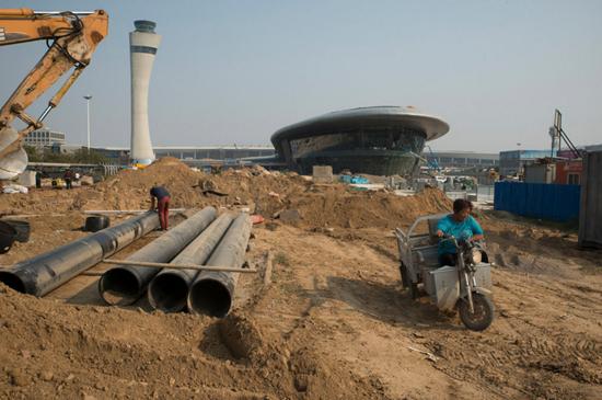 兴建中的郑州机场