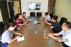 高新区教育局局长徐兵做客大河网新办公区  开启合作新篇章