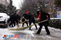 虞城高中积极开展义务除雪防滑志愿活动