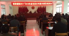 胡族铺镇召开2017-2018年度农田水利基本建设动员会
