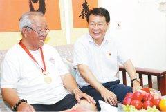 市委书记蒿慧杰、市长刘尚进等市领导看望慰问部队官兵和军属及优抚对象