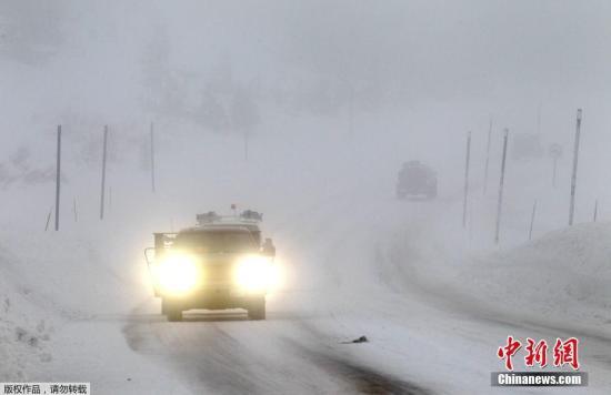 当地时间2017年1月7日,美国多地迎来降雪。