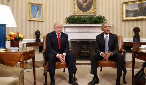 资料图片:特朗普和奥巴马。美联社
