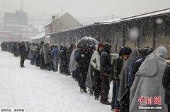 东欧多国遭暴风雪侵袭数人死亡 难民排队领物资