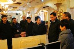 区领导视察安全生产和春节物资供应工作