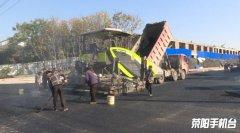 昌蒲路东延(织机路至桃贾路段)工程开始铺设沥青油面