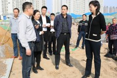 二七区委副书记王玉红调研生态建设项目推进情况