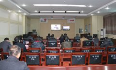 我县组织收听收看全省冬春农田水利基本建设工作电视电话会议