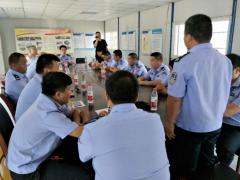 郑港办事处开展巡防队员业务技能提升专题培训