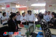 省质量认证中心主任李强到我县行政服务中心指导工作