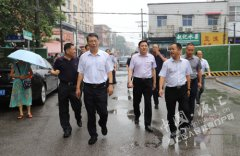 市长刘尚进到我区督导文明城市创建工作