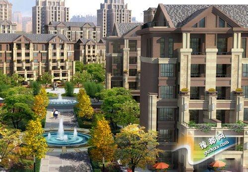 小区的建筑为简欧式建筑风格