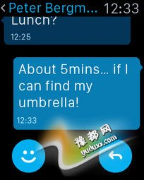 支持Apple Watch iPhone版Skype来了