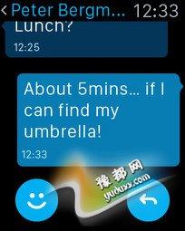 支持Apple Watch iPhone版Skype来了